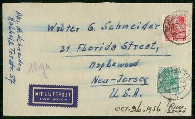 Mayfairstamps DDR 1956 to Maplewood NJ USA Cover wwe_99741