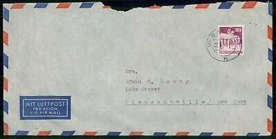 Mayfairstamps Germany 1950 Bremen to Pleasantville NY Cover wwe_99059