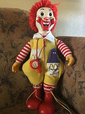 Vintage 1978 Ronald McDonald Plush Doll with Whistle