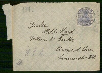 Mayfairstamps Germany Leipzig to Hartford CT Cover wwe_99095