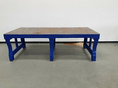 cast iron surface table 9ft x 4ft