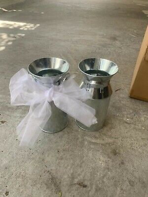 Wedding Accessories Silver Milk Urns used once.