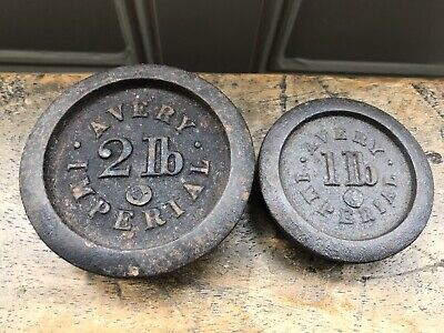 Avery Imperial Cast Iron Weights 2lb & 1lb