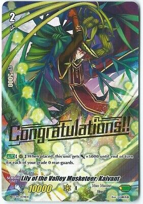 X2 CardFight Vanguard Lily Of The Valley Musketeer,kaivant V-EB03//030EN R