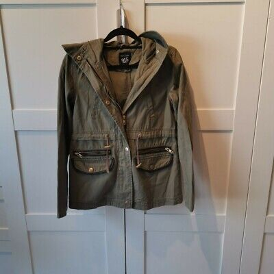 Girls New Look Jacket Khaki Coat Age 10 To 11 Would Fit Adult Size 4 6 Or 8