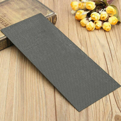 Carbon Fiber Plate Panel Sheet 100% 3K Weave Glossy Plain 100x250x1mm Black L