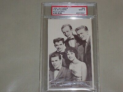 NU Cards 1959  Rock & Roll - The Skyliners - PSA Graded Mint 9