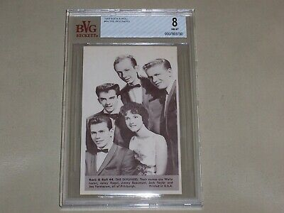 NU Cards 1959  Rock & Roll - The Skyliners #44 - Beckett Graded NM-MT 8
