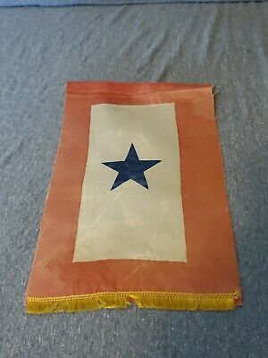 Vintage WW2 Service Flag 1 Blue Star Son / Family Member In Service