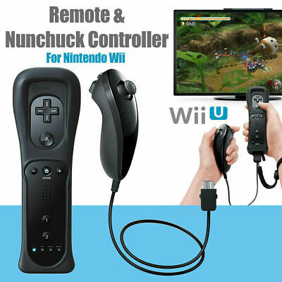 Motion Plus Wii Remote Controller & Nunchuck & Case For W ii & WiiU Console