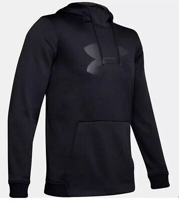 Under Armour Big Logo Graphic Cold Gear Men's Hoodie Small BLACK 1345321-001 NEW