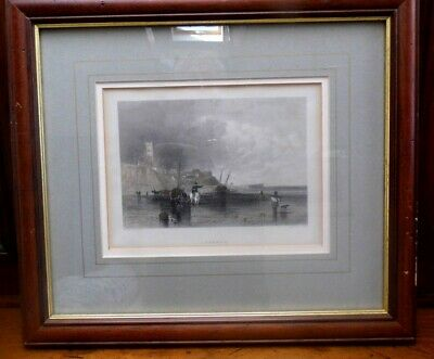 antique Cromer Georgian Antiquarian engraving 1840 by Finden framed RARE EARLY