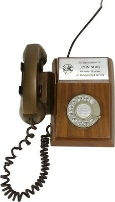 1969 Western Electric Unusual Wooden Telephone NY Yankees Award to John Neun