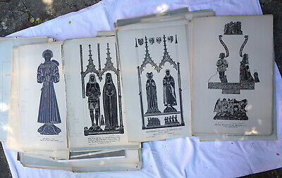 Lot of Antique / Vintage Portfolio of Brass Rubbings at Monumental Brass Society