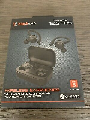 Blackweb Wireless Bluetooth Sport Earbuds Black 15 99 Picclick