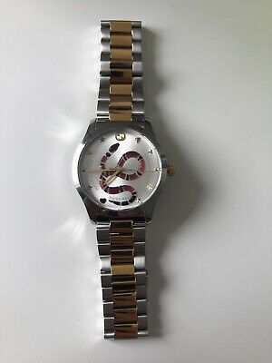 Gucci G-Timeless Snake Dial Stainless Steel 38mm Watch YA1264075