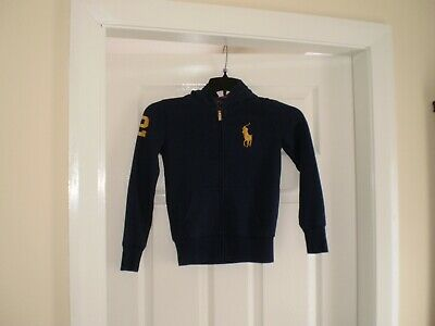 """Blouse """"Polo Ralph Lauren"""" With Hood Navy Colour Size: M ( 8-10 Years) (UK) Used"""