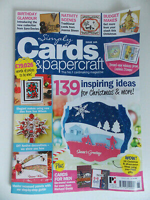 simply cards and papercraft cardmaking craft magazine issue 168 christmas