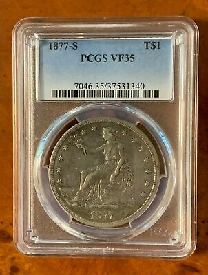 1877-S Trade Dollar Graded VF35 PCGS