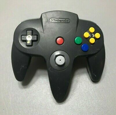 Nintendo 64 N64 OEM Official Authentic Controller - Black/Grey - Good Stick