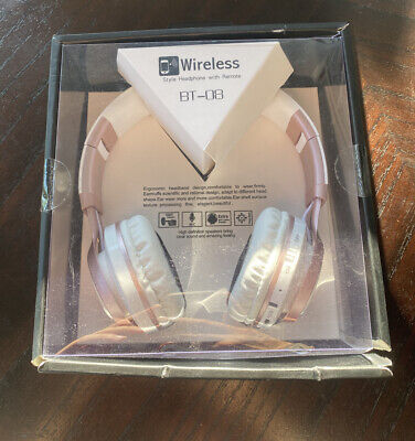 Picun Wireless Packable Folding Headphones BT-08 Pink / White