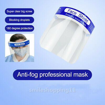 1X Safety Full Face Shield Clear Protector Work Industry Dental Anti-Fog