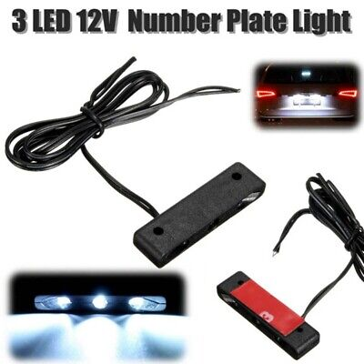 12V LED License Number Plate Light Lamp White Tail Rear Car Truck Motorcycle qwe