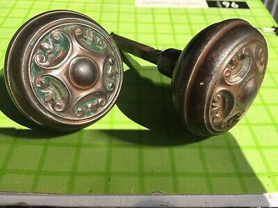 Antique Art Nouveau Door Handles Knob Original