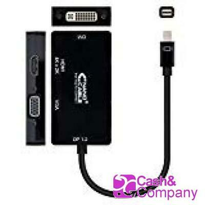 Nano Cable 10.16.3302-BK - Adaptador conversor 3 en 1 de Mini DisplayPort  #8007