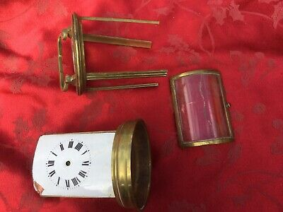 Round Carriage Clock Case Parts Back Door Etc No Glass