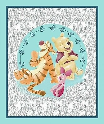 "Winnie The Pooh & Friends Fabric Cotton Craft Quilting Panel 36""x 43"" DISNEY"