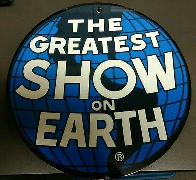 Ringling Brothers Greatest Show on Earth sign...~12 inches in diameter..