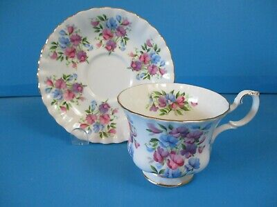 Royal Albert Cup & Saucer Springtime Series Sweet Pea Excellent Condition