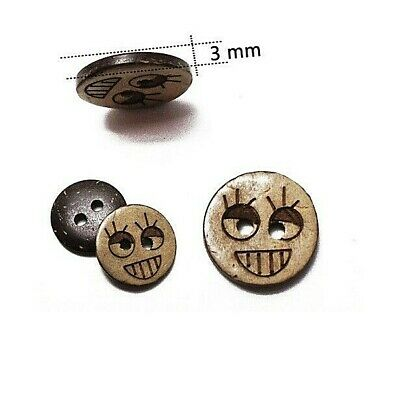 """Craft 15mm 2123 Pkg of 20 Plastic SMILEY FACE Shank Buttons 5//8/"""""""