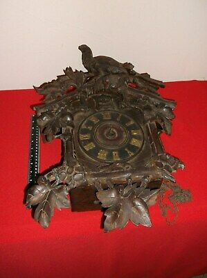 Antique(original) c late 1800's Lg Black Forest Cuckoo Clock (Parts or Repair).