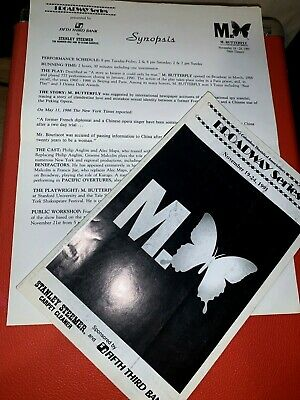 Broadway @1991 M. Butterfly Synopsis and Program