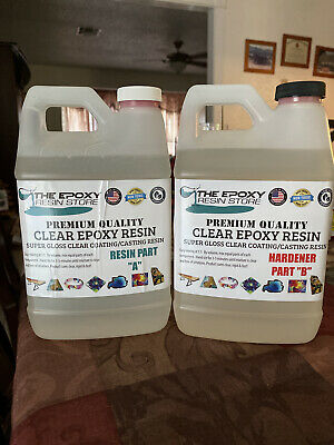 Crystal Clear Epoxy Resin Kit (1 Gallon) (Brand new)