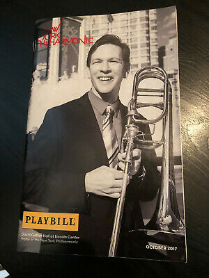 PLAYBILL - STAR WARS THE FORCE AWAKENS NY Philharmonic Concert October 2017