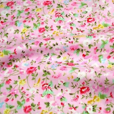 "Dress Small Flowers 100/% cotton fabric sold by the meter 63/"" super width"