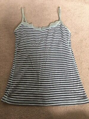 Primark Love To Lounge Stripe Cami Vest Blie Lace Sleepwear