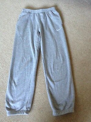 Boys Girls Grey Nike Jogging Track Suit Bottoms Trousers Age 12-13