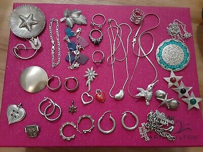 Lot Of Assorted 925 Sterling Silver Jewelry 165 grams