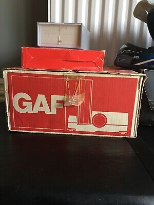 GAF 502 Working Vintage 35mm Slide Projector with Remote & Instructions & Box.