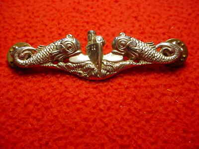 Usn  Submarine  Badge - Sterling  Silver - 2 7/8""
