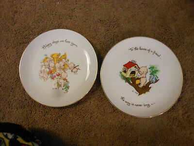 Pair Of Vintage Authentic Kewpie Doll Porcelain Collector's Edition Plates, 1973