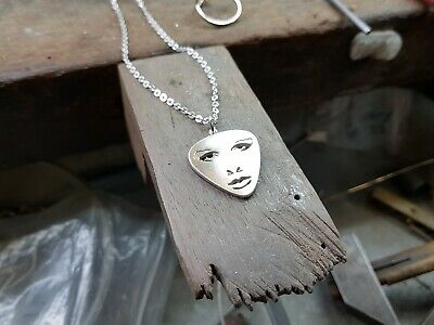 Pendant - When Doves Cry - Face - 925 Sterling Silver - Handmade