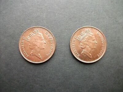 """GB COINS: 1994/95 ELIZABETH II TWO PENCE COINS (1"""" / 25mm Dia)"""