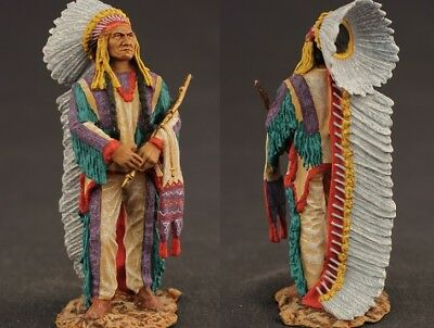 Tin toy soldiers  painted 54 mm Indian Chief Sitting Bull