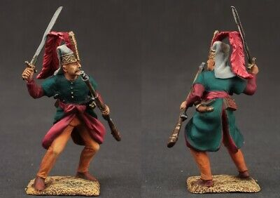 Tin toy soldiers  painted 54 mm Janycharsky officer, XVIII century.