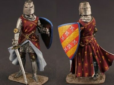 Tin toy soldiers  painted 54 mm English Knight XIV c.